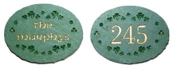 Shamrocks Address Plaque